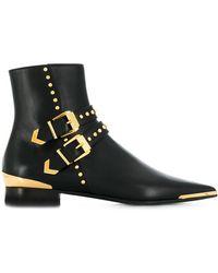 Versace Ботинки С Пряжками И Заклепками - Черный