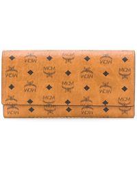 MCM Visetos-print Leather Wallet - Brown