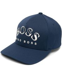 BOSS by Hugo Boss Baseballkappe mit Logo-Print - Blau