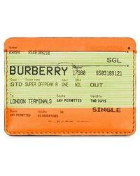 Burberry Pashouder Met Print - Oranje