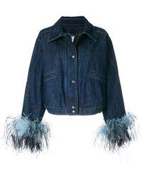 Prada Contrast Cuff Denim Jacket - Blue