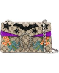 2b81bab304b Gucci Mini Dionysus Floral Jacquard Top Handle Bag in Yellow - Lyst