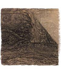 John Varvatos Paisley Print Scarf - Brown