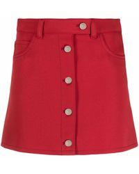 Courreges Minijupe Workwear - Rouge