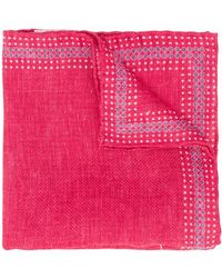 Brunello Cucinelli Dotted Trim Pocket Square - Pink