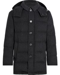 Mackintosh Auchavan Charcoal Storm System Wool Down Jacket   Gd-001 - Grey