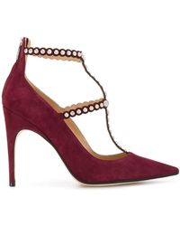 Sergio Rossi Studded Pointed Toe Pumps - Rood