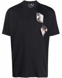 Fred Perry パッチ Tシャツ - ブラック