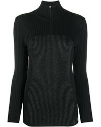 Y-3 Ribbed Knit High-neck Top - Black