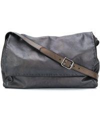 Numero 10 Grand sac porté épaule en cuir - Marron