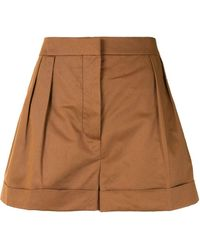 Marni High-waisted Pleated Shorts - Brown