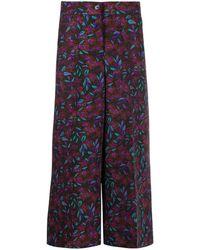 LaDoubleJ - Pantalon ample crop à fleurs - Lyst