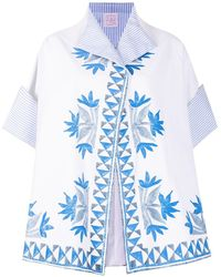 Stella Jean Floral-print Relaxed Jacket - White