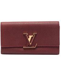 Louis Vuitton Portafoglio Pre-owned con placca logo - Rosso