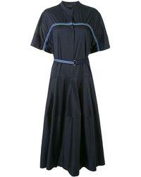 Lee Mathews Alice テープ ドレス - ブルー