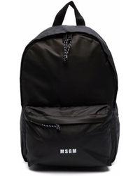 MSGM マルチポケット バックパック - ブラック