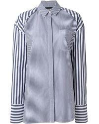 Juun.J - Oversized-Hemd mit Streifen - Lyst