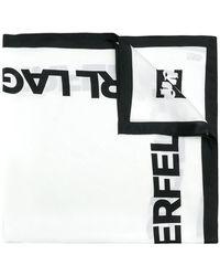 Karl Lagerfeld - Logo Print Scarf - Lyst