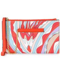 Emilio Pucci - Burle プリント レザーポーチ - Lyst