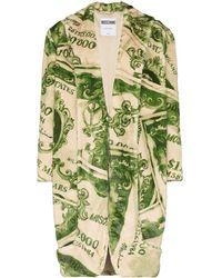 Moschino Manteau à imprimé graphique - Vert