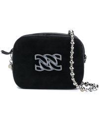 Casadei Suede Cross Body Bag - Black