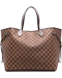 Louis Vuitton 2008 プレオウンド ダミエ エベヌ ネヴァーフル Gm ハンドバッグ - ブラウン
