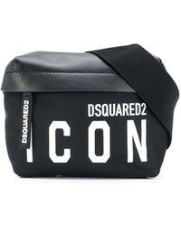 DSquared² Logo Print Belt Bag - Black