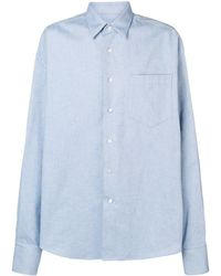AMI - Oversize Long Sleeve Shirt With Chest Pocket - Lyst