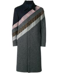 Fendi - Striped Formal Coat - Lyst