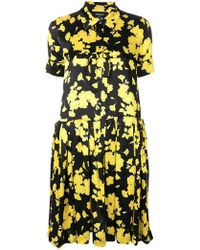 Rochas - Floral Print Flared Shirt Dress - Lyst