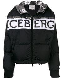 Iceberg - Logo Print Puffer Jacket - Lyst
