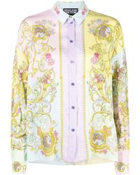 Versace Jeans Couture Tuileries プリント シャツ - ピンク