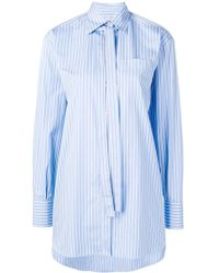 Valentino - Necktie Detail Striped Shirt - Lyst