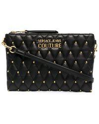 Versace Jeans Couture Стеганый Клатч - Черный