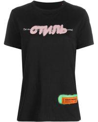 Heron Preston T-shirt Met Tekst - Zwart