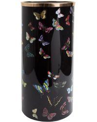 """Fornasetti Porte parapluie """"Farfalle"""" à papillons imprimés - Noir"""