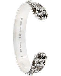 Gucci Bracelet torque à design de félin - Multicolore