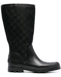 Gucci GG-motif Mid-calf Boots - Black