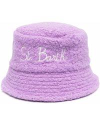 Mc2 Saint Barth James Embroidered Bucket Hat - Purple