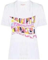 Emilio Pucci プリント Tシャツ - ホワイト