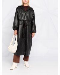 Nanushka ベルテッド シングルコート - ブラック