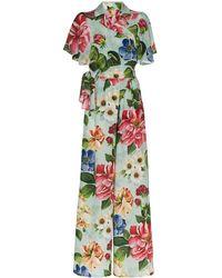 Dolce & Gabbana Комбинезон Широкого Кроя С Цветочным Принтом - Многоцветный