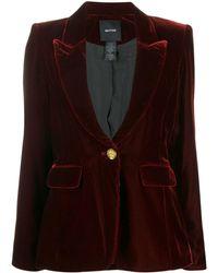 Smythe - Velour Tuxedo-style Blazer - Lyst