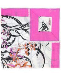 Emilio Pucci - Floral Print Frayed Scarf - Lyst