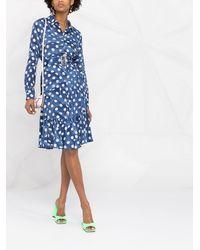 Boutique Moschino Платье С Оборками - Синий