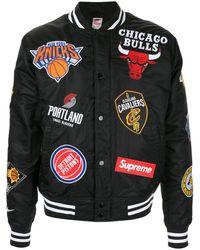 Supreme X Nike X Nba Teams Jacket - Black