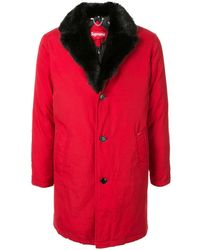 Supreme Down Trench Fw14 - Red