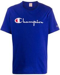 Champion ロゴ スウェットシャツ - ブルー