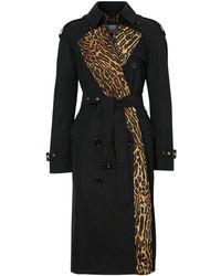 Burberry Trenchcoat Met Luipaardprint - Zwart