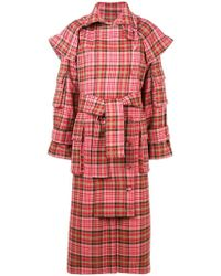 Zimmermann Checked Trench Coat - Multicolour
